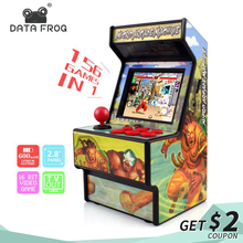 лучшая цена Data Frog Retro Mini Arcade Handheld Game Console 16 Bit Game Player Built-in 156 Classic Video Game Console Support TV Output