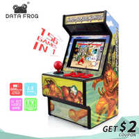 Data Frog Retro Mini Arcade Handheld Game Console 16 Bit Game Player Built-in 156 Classic Video Game Console Support TV Output