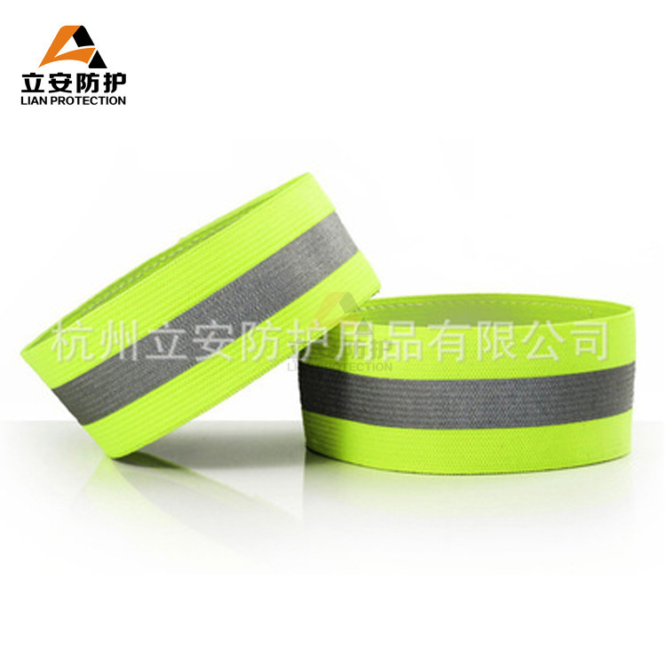 Manufacturers Really Sell Outdoor Sports Reflective Wrist Strap Traffic Riding Reflective Bracelet Night Fa Guang Shou Armband