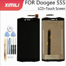 5.5 inch100 % test LCD ekran ekran Doogee S55 LCD ekran dokunmatik ekran ile komple meclisi Doogee S55Lite + araçları