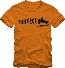 Sommer Verkauf Mode Gehen Kart T-Shirt, kart Fahren T-Shirt Evolution Verschiedene Farben DTG Druck 100% baumwolle T-shirt für Männer