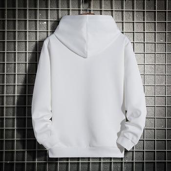 Men Hoodies 5XL 6XL 7XL 8XL Hooded Sweatshirts Men Hood Streetwear Male Black 2020 Spring Autumn Casual Solid Color Long Sleeve 8