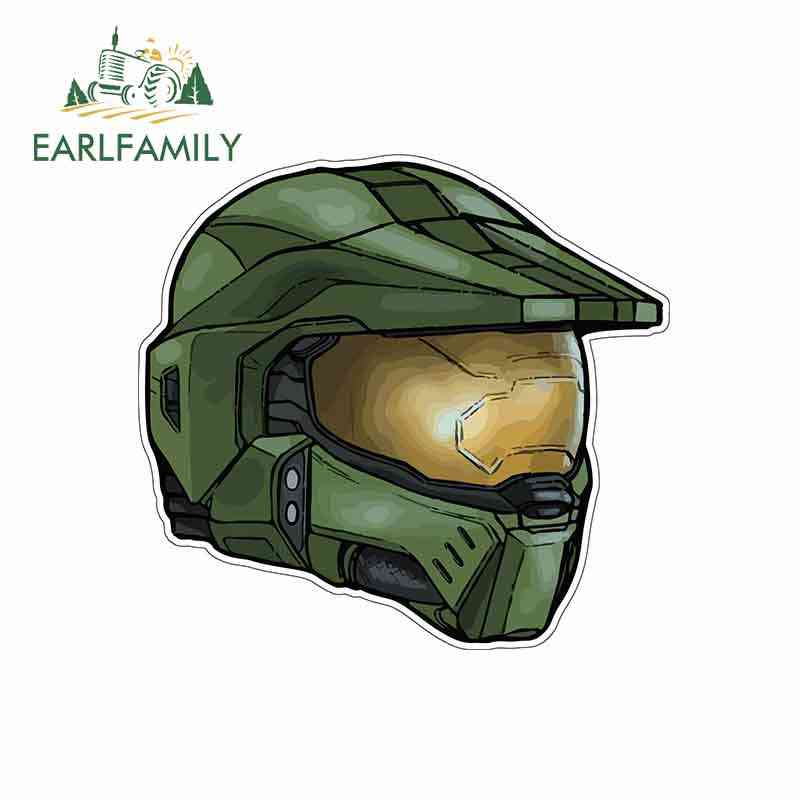 Game Halo Silhouette Master Cheif Home Room Wall Art Decal