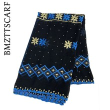 High Quality Chiffon Scarf Muslim women embroidery chiffon scarf