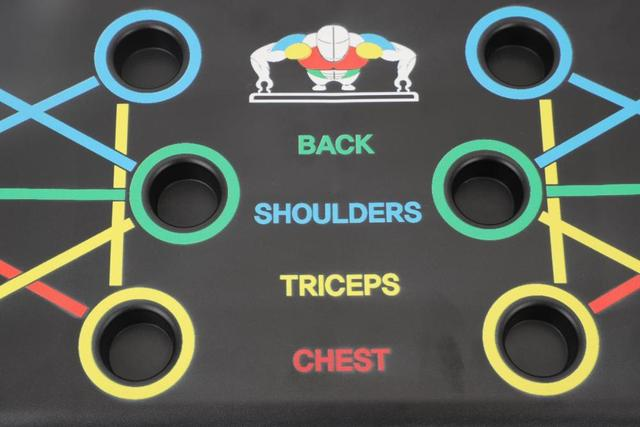 9 in 1 Push Up Board with Instruction Print Body Building Fitness Exercise Tools Men Women Push-up Stands For GYM Body Training 3