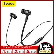 Baseus S06 słuchawki Bluetooth magnetyczne słuchawki bezprzewodowe słuchawki z pałąkiem na kark Sport Stereo słuchawka do telefonu Auriculares z mikrofonem