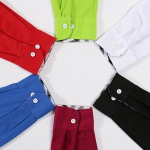 Image 5 - Automne mode Polo chemise femmes automne décontracté à manches longues Slim solide dame dessus de chemise grande taille groupe service personnalisation Automne mode Polo chemise femmes automne décontracté à manches