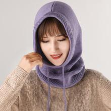 Модная женская шерстяная вязаная мягкая фиолетовая верблюжьей