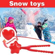 Coeur boule de neige fabricant hiver en plastique boule de neige fabricant pince enfants en plein air moule jouets étoile boule de neige fabricant neige jeu jouets
