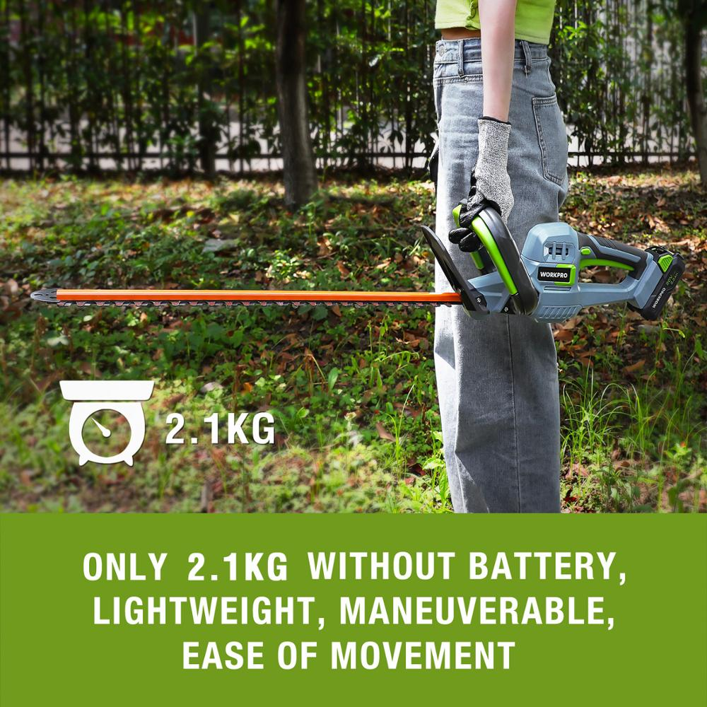 Tools : 20V Electric Cordless Household Trimmer Hedge Trimmer Quick Charge Rechargeable Electric Trimmer Pruning Saw with Blade