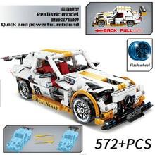 MOC High-Tech Speed Champion Building Blocks Sports Pull back Racing Car Moc Bricks Educational DIY Toys for Children gifts