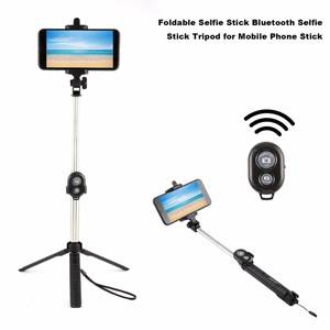 Selfie-Stick Bluetooth Shutter Drop-Ship Remote-Controller Foldable for Fashion