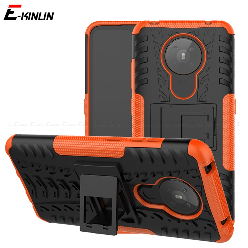 Shockproof Tough Robuuste Back Cover Voor Nokia 5.3 2.3 1.3 8.1 7.1 2.1 6.1 5.1 3.1 Plus Armor Hybrid Silicone houder Stand Case