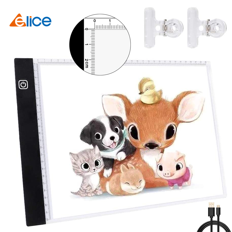 A4 LED Light Pad for Diamond Painting, USB Powered Light Board Kit, Digital Graphics Tablet for Drawing Pad Art Painting board