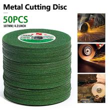 цена на 25/50 Pcs 107mm Resin Cutting Wheel Disc Blade Metal Cut Off Wheel Abrasive Angle Grinder Disc Grinding Blade Cutter for Metal