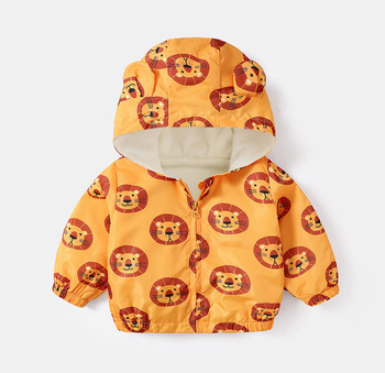 LZH 2020 Autumn Winter Newborn Baby Clothes For Baby Boys Jacket Baby Dinosaur Print Outerwear Coat For Infant Baby Girls Jacket 11