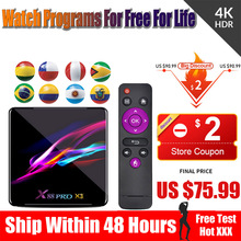 world iptv  tv box android 9.0 x88 pro x3 for spain nederlands belgium 2GB 4GB  HDMI 2.0 4K Free test no channels include bluetv hongkong taiwan chinese live channels video on demand iptv box