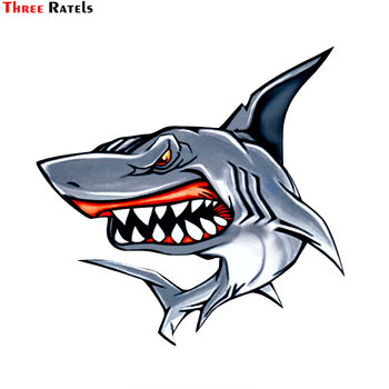 three ratels tz 1950 14x19cm respect for bikers car sticker funny stickers styling removable decal Three Ratels LCS281# 15.4x15cm shark colorful car sticker funny car stickers styling removable decal