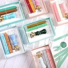 JIANWU-sello de cera de color Macaron, Mini cinta Diy de sobre, sellos de cera para fabricación de tarjetas, suministros artesanales para invitaciones de boda