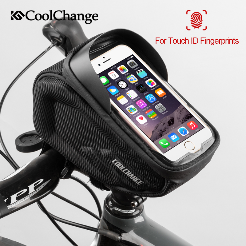 CoolChange Bicycle Bag Waterproof Touch Screen Cycling Handlebar Bag Reflective Top Tube Frame Phone Bag MTB Bike Accessories