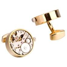 Mechanical Watch Movement Cufflinks For Mens Shirt Cuff Functional Watch Mechanism Cuff Links Designer Brand Jewelry