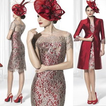 Burgundy Mother Of The Bride Dresses She