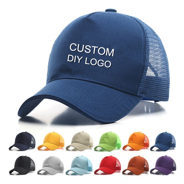 New Summer Men's Cotton Custom Logo  Snapbacks Hats Unisex Women ODM OEM DIY Print Embroidery Logo Baseball Cap Dad Fitted Hat