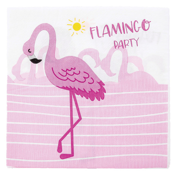 16pcs Flamingo themed party paper towel happy birthday wedding anniversary decoration party paper towel supplies image