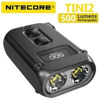 NITECORE-luz inteligente de doble núcleo, tecnología de sueño APC, modo de reposo Larga, con carga USB tipo C, 500 lúmenes, OLED