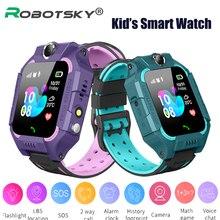 Детские Смарт-часы Q19 с вставкой Sim-карты детские часы BLS позиционирование SOS двойная камера Смарт-часы для мальчиков девочек подарок