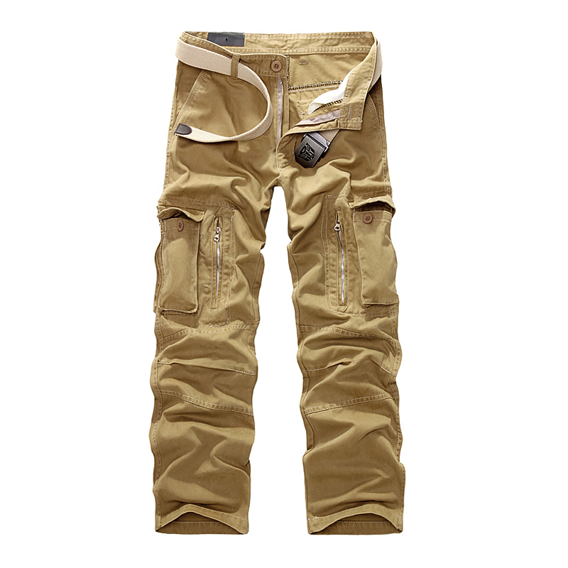 2019 New Military Men Cargo Pants Men Camouflage Tactical Cotton Trousers Casual Male Cargo Joggers Pants Multi Pocket Trousers