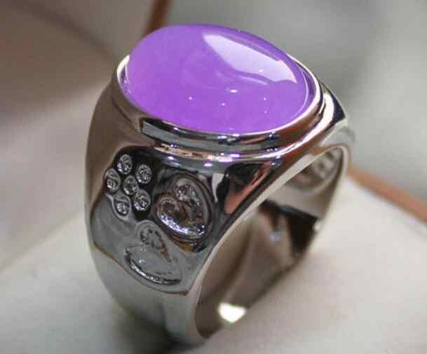 เครื่องประดับไข่มุกแหวนผู้ชาย/ผู้หญิงสีม่วง jades/โอปอลรักแหวน #9,10,11,12 จัดส่งฟรี