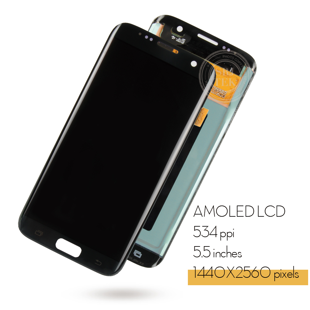 5.5 ORIGINELE AMOLED S7 rand Display Voor SAMSUNG Galaxy S7 Edge Screen Display Touch met Frame Voor SASMSUNG S7 Rand LCD G935F - 2