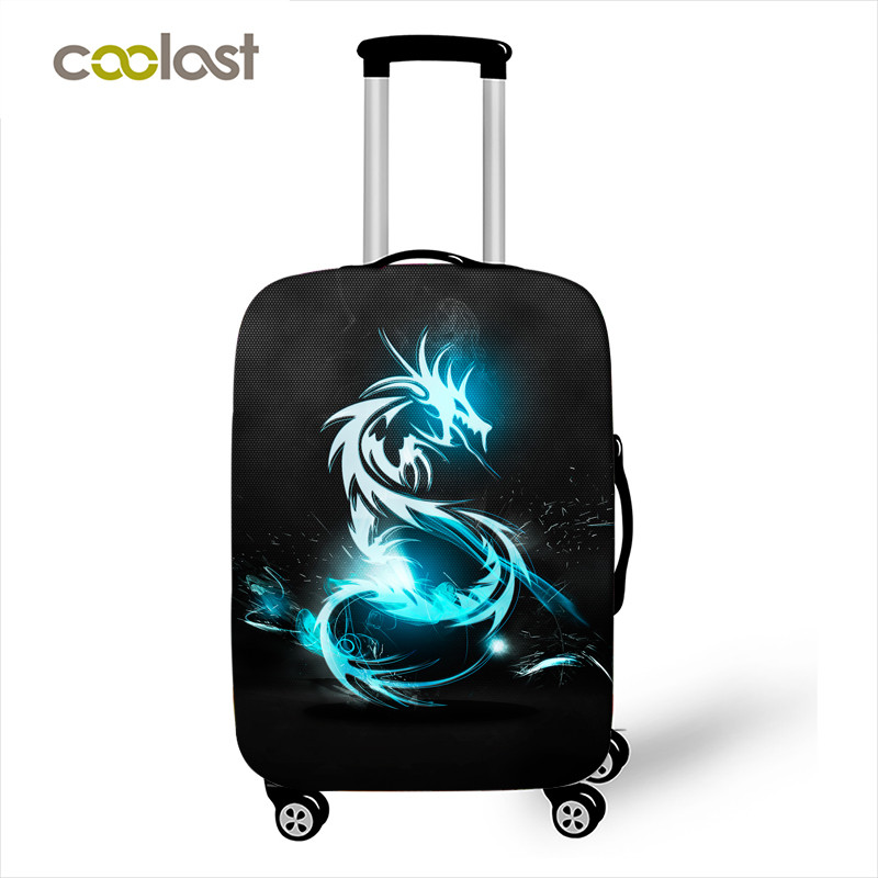 18-32 Inch Dragon Suitcase Cover Elastic Unicorn Luggage Protective Covers For Girl Animal Travel Accessories Trolley Case Cover