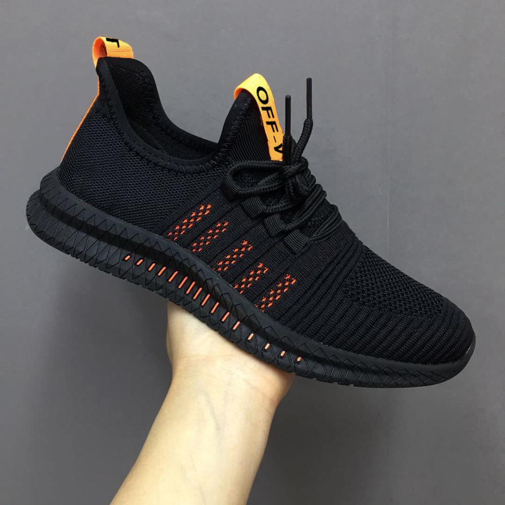 Mesh Running Shoes For Men Black Casual Sneakers Fashion Man LightWeight Summer Sports Shoes Comfort Walking Sneakers Lace Up