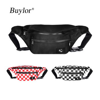 Buylor Waist Pack Hip Hop Bum Bag Trend Fanny Pack Fahsion Belt Bags Women Chest Bag Men New Canvas Shoulder Pack Phone Pocket