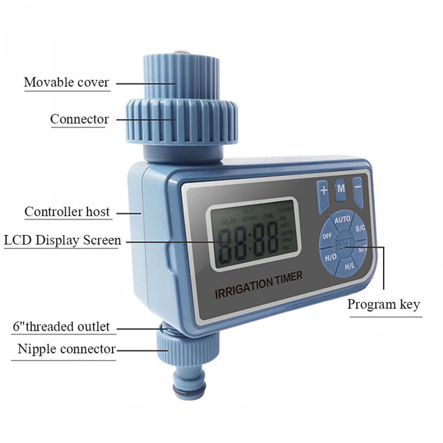 Hot New Watering Timer Garden Electronic Programmable Automatic Watering Timer Waterproof Water Faucet To Hose Timer with LCD Di