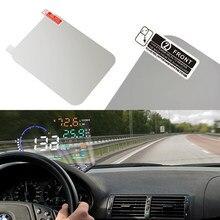 Obd ii consumo de combustível overspeed display veículo-montado cabeça up sistema de exibição estilo do carro filme reflexivo carro quente hud filme