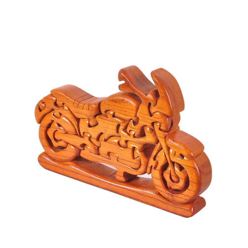 Wooden Assembled Motorcycle Model Ornaments Simulation Motorcycle Model 3d Wooden Blocks Puzzle Assembly Motorcycle Model Toy