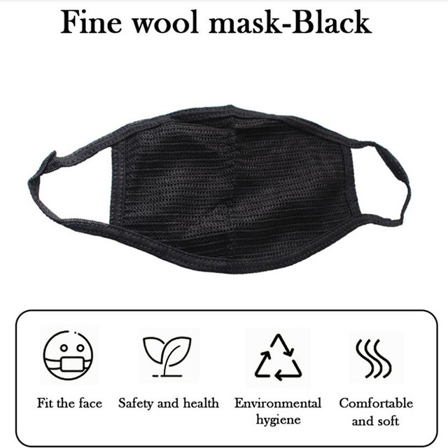 Pollution Dust Proof Mouth Mask Dust Respirator Washable Reusable Masks Cotton Unisex Mouth Muffle Allergy Travel Cycling 3