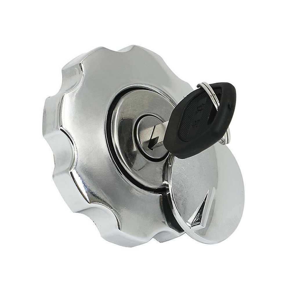 Motorcycle Fuel Gas Tank Cap Cover Lock Set For Honda CG125 CG 125 Spare Parts Replacement Aluminium Fuel Gas Tank Motorbike
