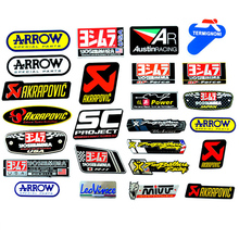 Motorcycle Exhaust Pipes Decal Sticker Aluminium 3D Heat-resistant Decals Sticker For Scorpio Leovince Two Brother Arrow