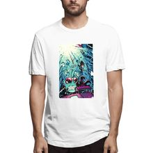 Blue T shirt Invader Zim Drawing Out Mens Short Sleeve T-shirt Overside Tee 100 Cotton print tshirt