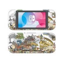 Studio Ghibli Anime NintendoSwitch skórka naklejka naklejka pokrywa dla Nintendo przełącznik Lite Protector przełącznik do Nintendo Lite skórka naklejka