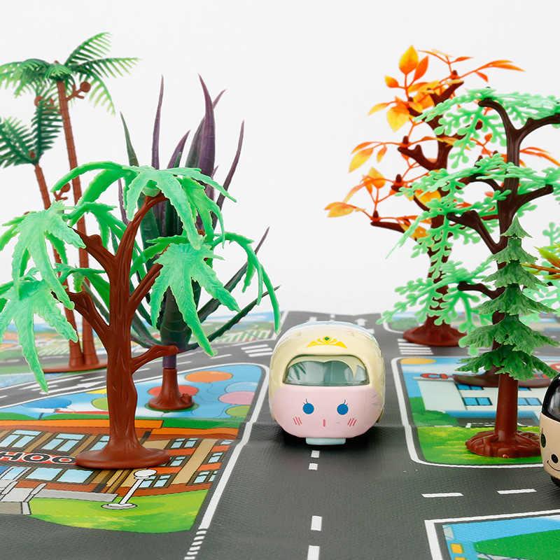Kota Besar Lalu Lintas Mobil Tikar Bermain Anak-anak Karpet Mengembangkan Bayi Merangkak Tikar Bermain Permainan Mat Mainan Anak Mat Playmat teka-teki Gyh