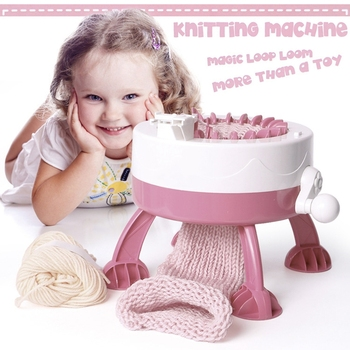 40 Needle Handcraft Knitting Machine Children Educational Learning Toys Scraf Hat Weaving Tools Star Cylinder Woven Wool Machine weaving loom dreams kids girl diy knitting wool machine woodlens penguin educational learn toys gift child playset hand crank