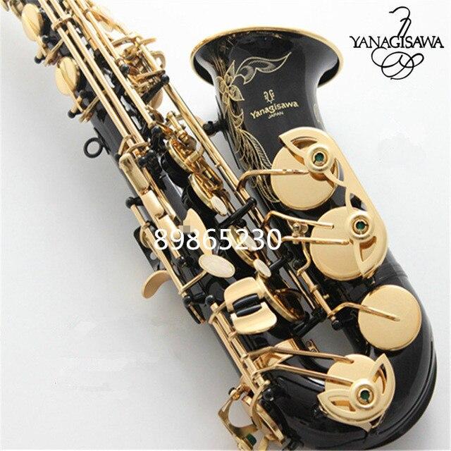 2019 Brand New YANAGISAWA Alto Saxophone A WO20 Black Lacquer Gold Professional Alto Sax Black Nickel