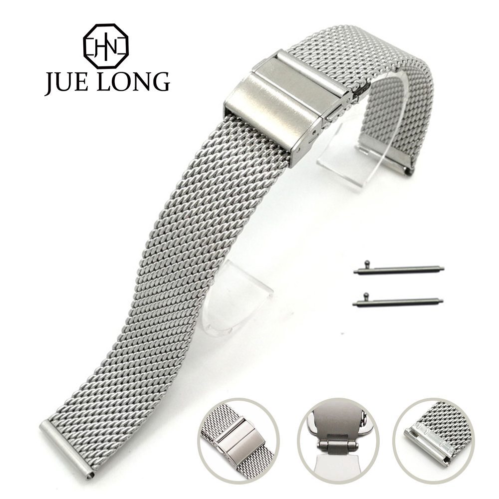 High Quality Strap For Brand Universal Watch Strap Mesh Bracelet 18mm 20mm 22mm Stainless Steel Watch Band Bracelet