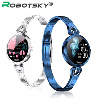 AK15 Smart Watch ladies Fashion Women Waterproof Blood Pressure Blood Bluetooth Fitness Tracker Bracelet For Gift Android IOS