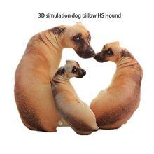 Simulação 3d cão travesseiro shapi dalmatian husky pelúcia almofada escritório cochilando casa prático lavável travesseiro
